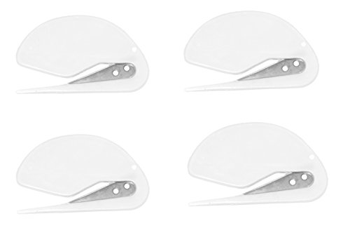 ALAZCO 4pc All White Color Value Pack Set of World#039s Most Efficient Letter Opener Envelope Slitter