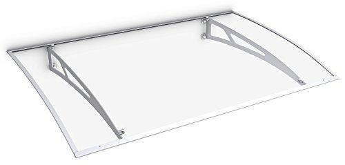 Schulte Vordach Überdachung Haustürvordach 140x89cm Polycarbonat klar Stahl weiß Pultbogenvordach