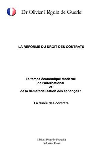 LA REFORME DU DROIT DES CONTRATS : Le...