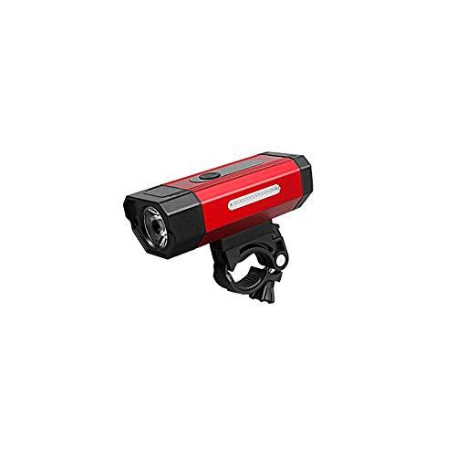 Dabeigouztoud linterna frontal, Luz de bicicleta recargable USB de 800 lúmenes, 5 modos de iluminación, batería de gran capacidad con función de potencia móvil, adecuado para pasajeros y ciclistas