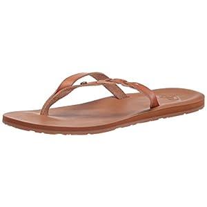 Roxy Women's Liza Flip Flop Sandal, TAN/Brown 21, 9