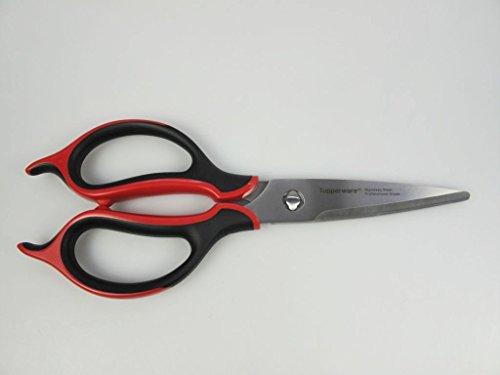 TUPPERWARE Küchenhelfer Schere Ergonomic-Schere rot-schwarz D94 Küchenschere 6630