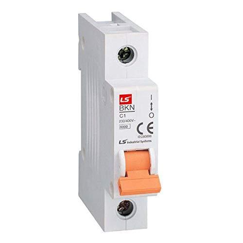 Interruptor BKN-C 6 kA, 1 polo, C, 1 A, 2 A, 3 A, 4 A, 6 A, 10 A, 13 A, 16 A, 20 A, 25 A, 32 A, 40 A, 50 A, 63 A (6A).