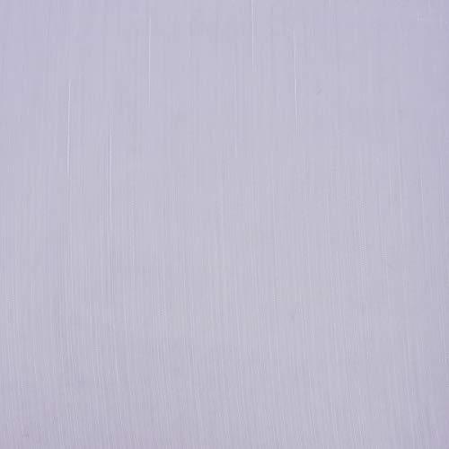 Mooi leven. Gordijnstof Stores gordijn fijne strepen met loodband wit 1,50m hoogte