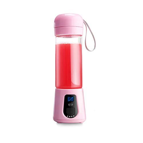TYZY USB-Entsafter Mini-Multifunktions-Fruchtsaftbecher Tragbares Aufladerührwerk zum Entsaften von Eiern mit rührendem Milchshake zum Trockenmahlen,Pink