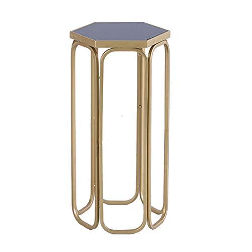 DFJU Support de Fleur Table Basse en Verre de Fer de Rangement rétro Table Basse de Salon présentoir