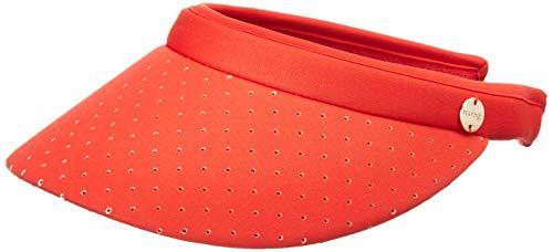 Seafolly Damen Perforated Active Sunvisor Hat Sunhat, Safari Spot Rouge Pink, Einheitsgröße