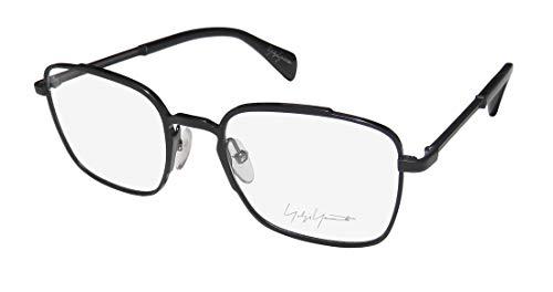 Yohji Yamamoto Yy3006 Mens/Womens Rectangular Full-rim Premium Brand Name Eyeglasses/Eyewear (51-20-145, Black)