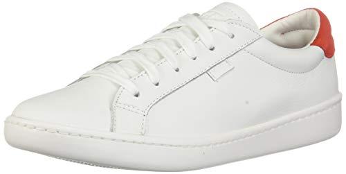 Keds Damen Ace Leather Fashion Sneaker, Weiá (Weiß/Rotes Leder), 42 EU