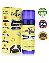 Handy Hound SnoutScreen | Nose Balm | Moisturizing All Natural Balm and Sunscreen Heals Dry, Chapped, Cracked, and Crusty Dog Snout and Protects from Sun and Discourages Insects, 2 oz
