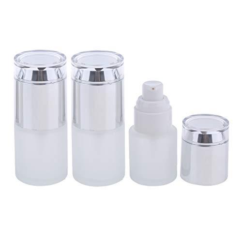 F Fityle 3pcs Flacons Parfum Vaporisateur Vide Etuis Stockage Lotion - 02 Argenté