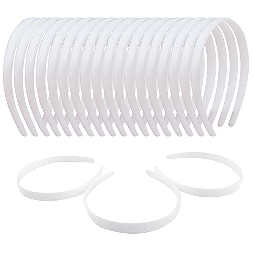 36 Pcs White Plastic Headband Plain No Teeth for Women Girls,DIY 1/2'' Hard Thin Craft Hair Bands Accessories Sold by Zifengcer