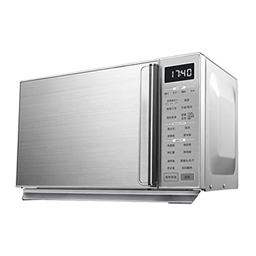 Horno microondas Digital, 25 litros 900 W Horno microondas Independiente de Panel Plano / 5 Niveles de Potencia/Menú de cocción automática/Fácil de Limpiar/Reloj y temporizad
