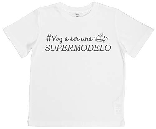 Spoilt Rotten SR - Voy a ser una supermodelo Camisetas para niños - Camisetas para niñas - Negro