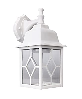 Lit-Path Outdoor LED Wall Lantern, Wall Sconce as Porch Light, 11W (100W Equivalent), 1000 Lumen, Aluminum Housing Plus Glass, Outdoor Rated, ETL and ES Qualified