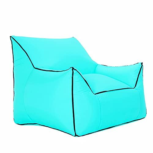 Azanaz Sitzsack, Aufblasbares Sofa, Aufblasbares Sessel, Sitzsack Outdoor Wasserfest Tragbar-Keine Luftpumpe, luftsessel Für Outdoor und Indoor Entspannen, Für Sitzecke Balkon Wohnzimmer Camping