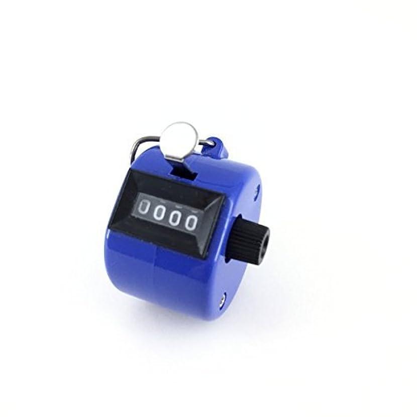オーブンレベル第エクステカウンター 手持ちホルダー付き 数取器 まつげエクステ用品 カラー4色 (ブルー)