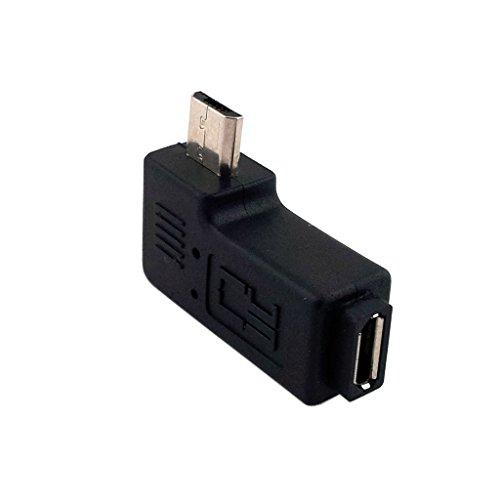 CY Micro USB 2.0 5P Stecker auf Buchse M auf F Verlängerungsadapter 90 Grad links gewinkelt