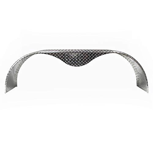 Trailer-Fenders.com 68x10-3/4 Aluminum Tread Plate Trailer Fender - Tandem Axle Teardrop (Two Pack)
