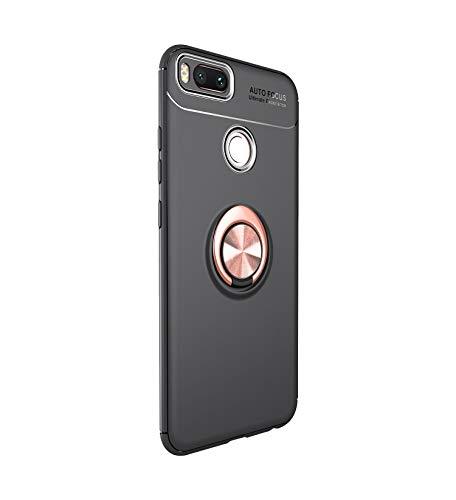 Funda Xiaomi Mi A1 Teléfono Móvil Silicona Bumper Case Funda con Anillo Giratorio de 360 Grados Rotaria Ring Holder Protectora Caso (3, Xiaomi Mi A1)