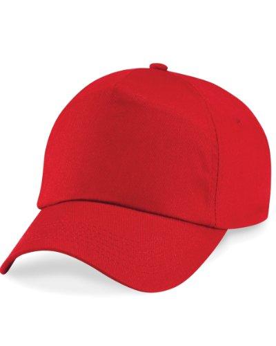Beechfield Kindermütze, einfarbig, 100 % Baumwolle, B10B, Rot, B10B Einheitsgröße