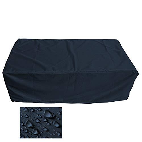 Holi Europe Premium Table de jardin rectangulaire Housse de protection Couverture Revêtement bâche de protection (L 200cm x L 100cm x H 75cm, noir)