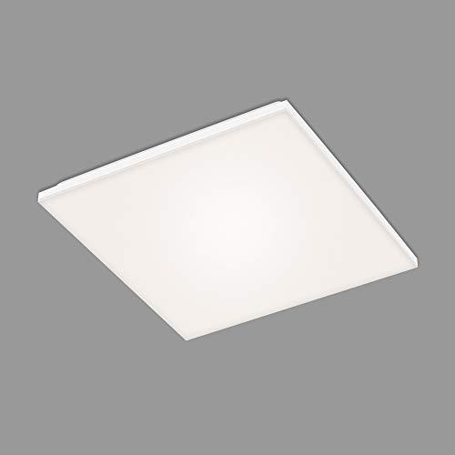 Briloner Leuchten - LED Panel, LED Deckenlampe, Deckenleuchte rahmenlos, 24 Watt, 2.800 Lumen, 4.000 Kelvin, Weiß, 450x450x75mm (LxBxH), 7376-116, 45 x 45 cm