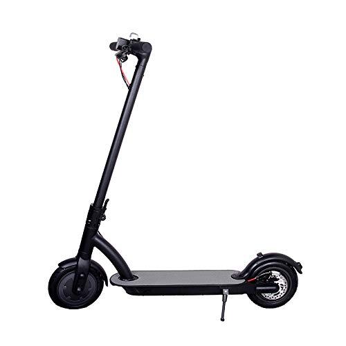 """Scooter Eléctrico De Velocidad Ajustable De 36 V para Adultos, Scooter Eléctrico Plegable Ultraligero para Adolescentes De 250 W, Scooter Eléctrico Unisex con Neumático Antideslizante De 10""""(Negro)"""