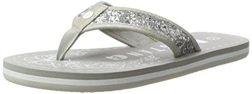 MUSTANG Damen 1243-702-21 Zehentrenner, Silber (21 Silber), 42 EU