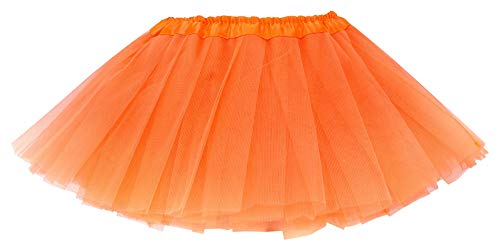 Simplicity Baby 4 Layers Tulle Tutu Skirts Dance Cosplay Dress, Orange, 6-18 Months