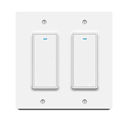 Smart Light Switch Aleath Smart Switch 24Ghz WIFI Light Switch  Neutral Wire Needed Compatible with Alexa Google Assistant and IFTTT Remote Control  2gang