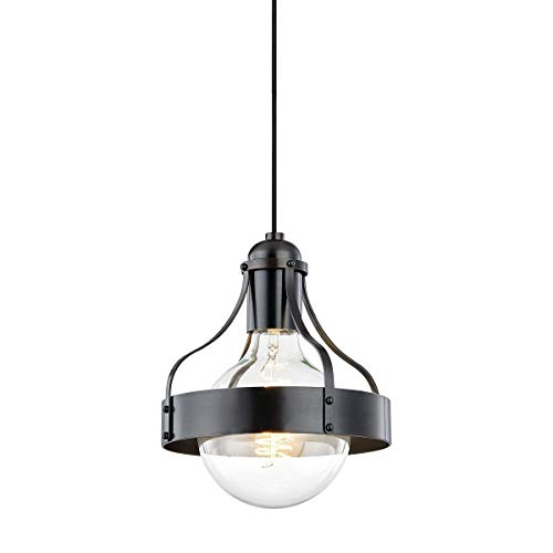 Mitzi H271701-OB Transitional One Light Pendant from Violet Collection in Bronze/Dark Finish