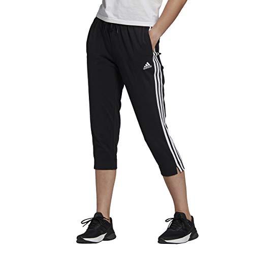 adidas Damen 3-Streifen 3/4 Hose, Black/White, L