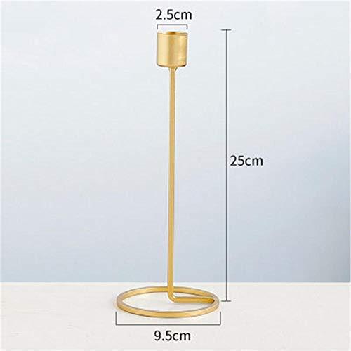YZCKW smeedijzeren kandelaar van wax gouden kop romantische tabel bruiloft decoratie kandelaar