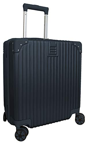 Hard Shell Lightweight Cabin Size Suitcase Carry On Luggage (Navy)