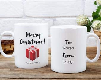 Taza de regalo de Navidad, regalo para Karen, regalo de Navidad, taza divertida, regalo para ella, regalo para él, regalo de vacaciones, regalo personalizado, taza personalizada