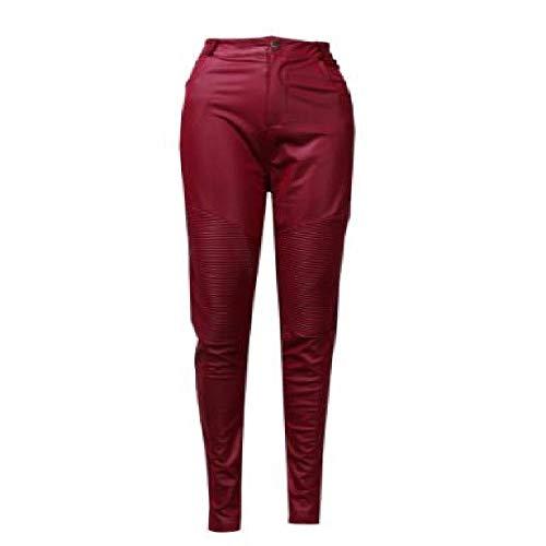 LILIZHAN Sexy Womens Stretch Hoge taille Potlood Broek Skinny PU Lederen Leggings Broek voor Vrouwen Dames Broek