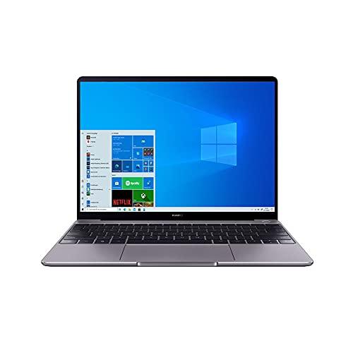 HUAWEI MateBook 13 2020, 13 Zoll Laptop 2K FullView Display Ultrabook, Windows 10 Home, AMD Ryzen 7 3500U, 16GB RAM, 512 GB SSD, Fingerabdrucksensor, Huawei Share, QWERTZ-Layout, Grau