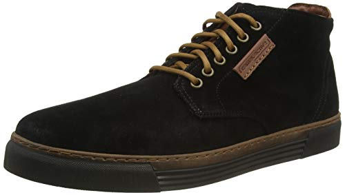 camel active Herren Racket 20 Hohe Sneaker, Schwarz (Black (Black) 17), 43 EU (9 UK)