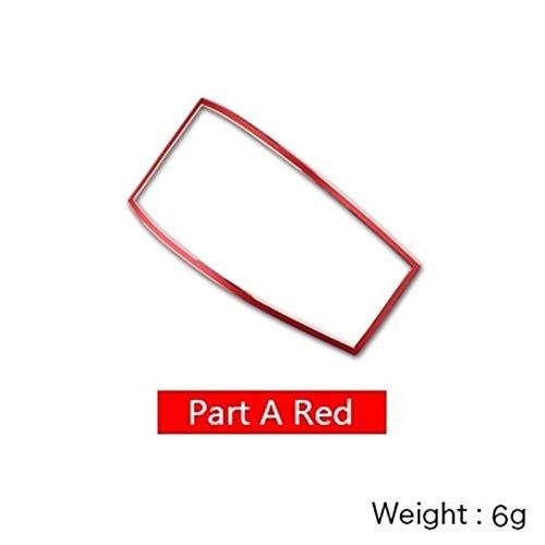 ASSDDAF-110 Decoración Ajuste para Mercedes Benz W212 Accesorios W212 Fit para Mercedes AMG Pegatina para W212 Interior Trim Coche LEAGE Light Cute Marco DE LUZ Accesorios (Color Name : Part A Red)