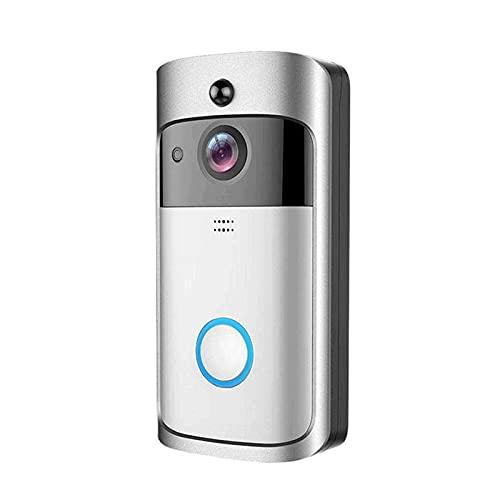Cámara de vídeo 720p HD WiFi timbre de la puerta de seguridad con HD nocturna de la detección de movimiento PIR de la visión de dos vías de conversación y de video en tiempo real for iOS y Android Sma