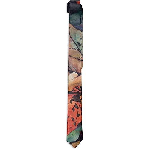 Lege heren skinny stropdas accessoires, herfst Red Maple Gentleman stropdas