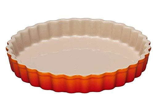 Le Creuset Tarte-Form, Ø 24 cm, Steinzeug, Ofenrot