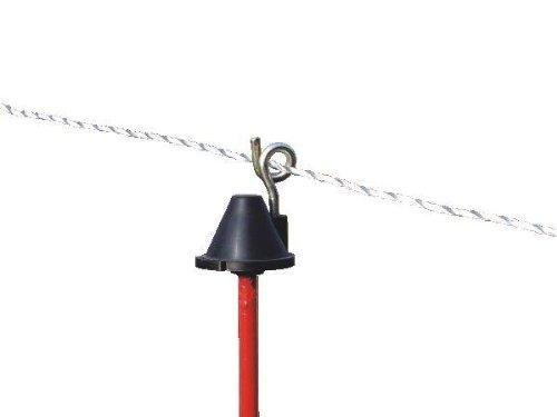 Horizont isolant de rechange pour poteau rond en acier 8 mm avec tire-bouchon en métal (lot de 50)