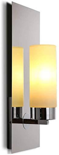 Lámpara industrial, Lámpara moderna de la pared de la vela de la vela de la vela de la candelería creativa del restaurante occidental, la luz de la pared del hilo de la barra de vidrio nórdico, el ret