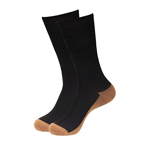 CopperD 1 Pr Rayon from Bamboo Copper Compression Socks Stocking (15-20mmHg) to Reduce Swelling, Better Blood Flow or Comfort Support for Every Day Uses, S/M