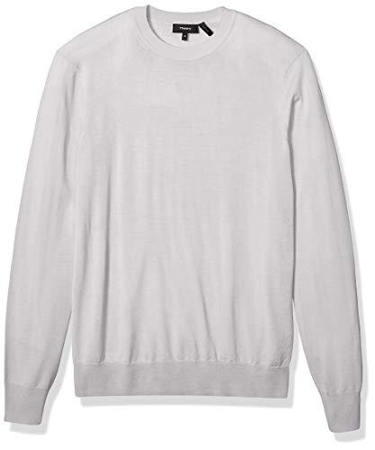 Theory Herren Crew Neck Regal Wool Sweater Pullover, Mörser, Mittel
