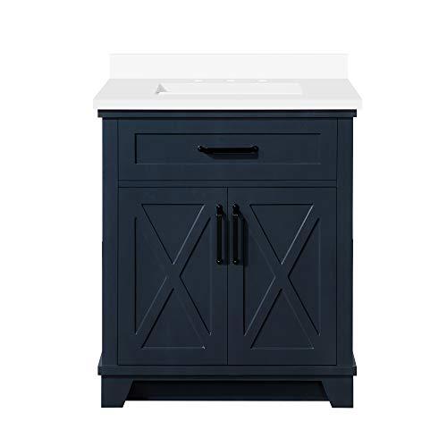 OVE Decors Ollie 30 in. Single Sink Bathroom Vanity in Midnight Blue