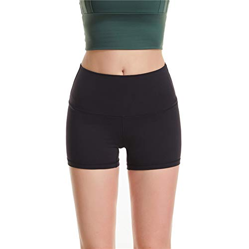 TBATM Pantaloncini Sportivi da Donna, Morbido Dermocompatibile Senza Cucitura Pantaloni Elastici di Fitness per Palestra Correre Allenamento Yoga Collant di Base Dimagrante,C,S