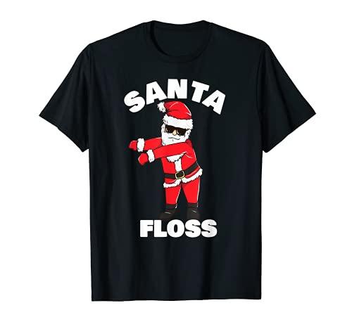 Santa Floss Dance Christmas Pajama Kids Flossing PJ Gifts T-Shirt